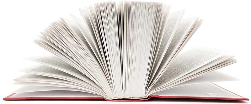 Afbeelding van een opengeslagen boek
