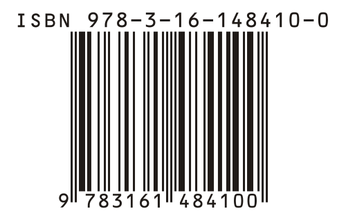 Voorbeeld van een ISBN-nummer