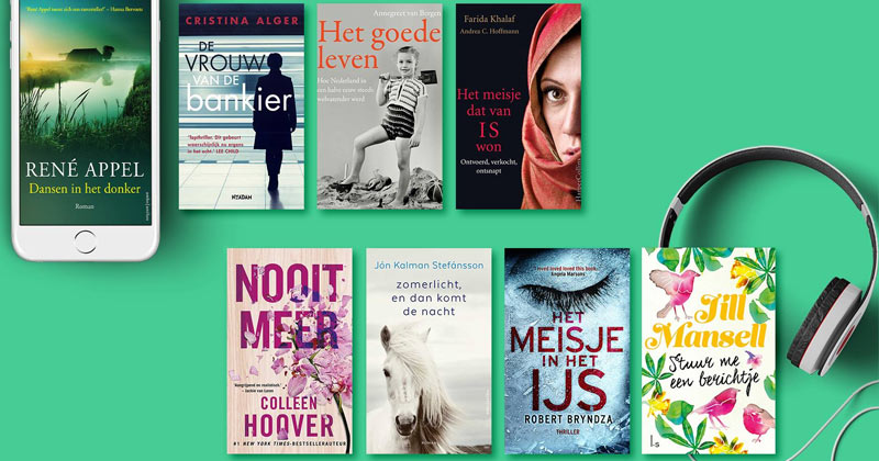 Acht e-books en audiobooks per maand