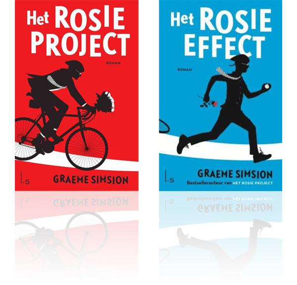 Omslagen van Het Rosie project en Het Rosie effect