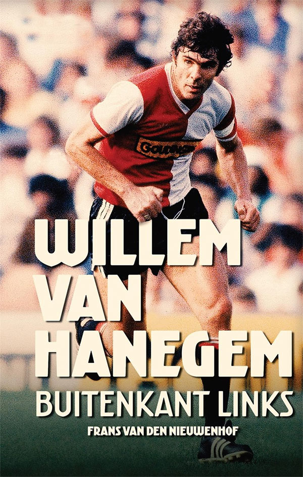 Boekomslag Willem van Hanegem. Buitenkant links.